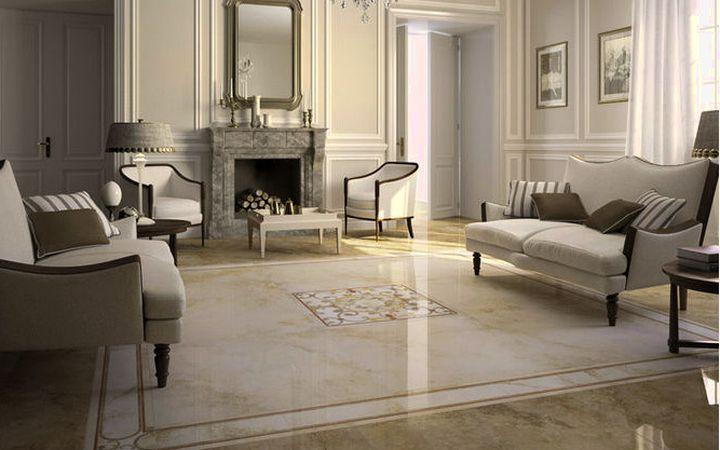 Мраморный рисунок на полу