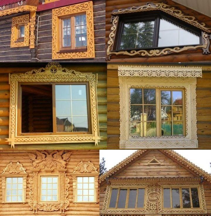 Резные наличники для деревянных окон со стеклопакетом