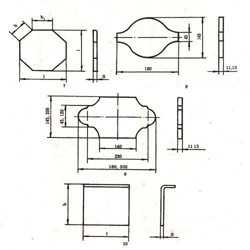 Формы керамической плитки для облицовки пола (продолжение)