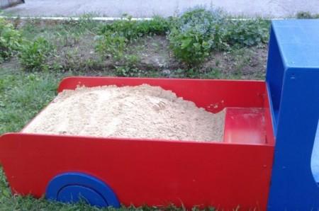 Песочница на детскую площадку своими руками