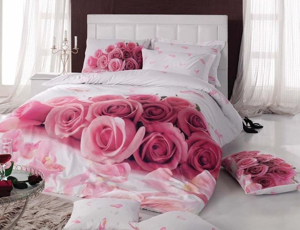 Белье с розами
