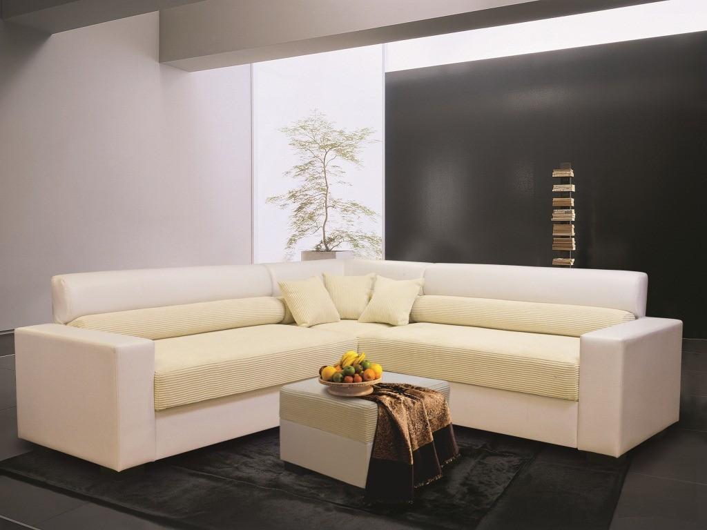 Кожаное сочетание дивана