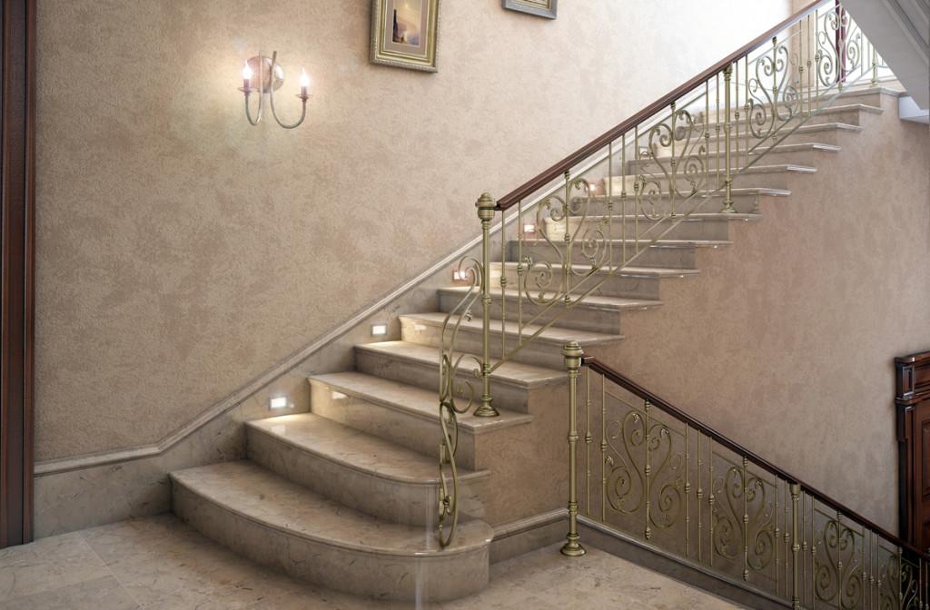 Шикарная лестница в интерьере