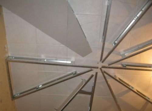 Двухуровневый потолок из гипсокартона в детской комнате «Солнышко»