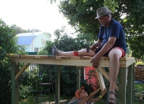 Шалаш (домик) для детей своими руками