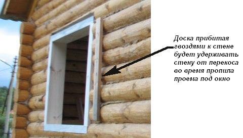 Установка пластиковых окон в деревянном доме из бревен или бруса