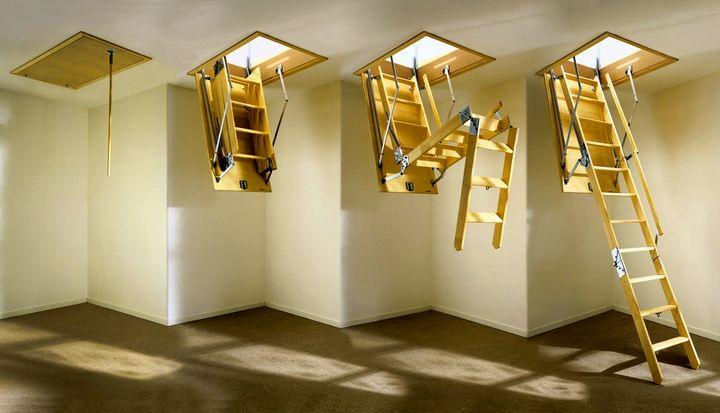 Раскладная лестница на чердак