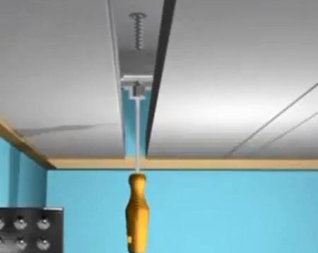 Реечный потолок в ванной (подвесной потолок) своими руками