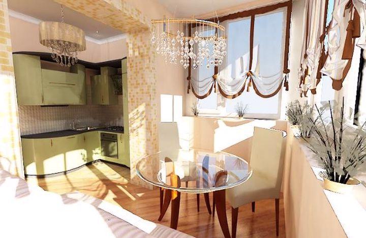 Комната для отдыха на балконе
