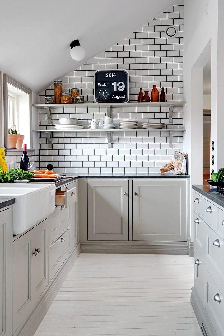 Кухонный гарнитур для маленькой кухни (7)