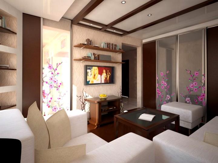 Мебель для маленькой гостиной комнаты4