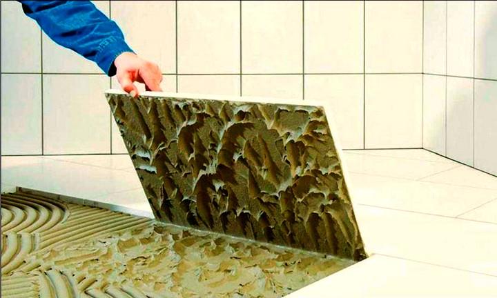 клей для плитки в ванной