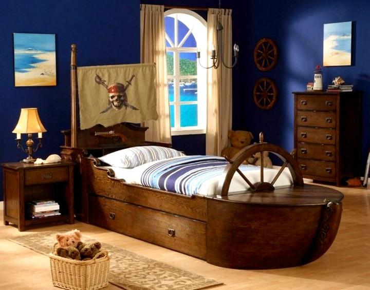 Пиратская-кровать для мальчика