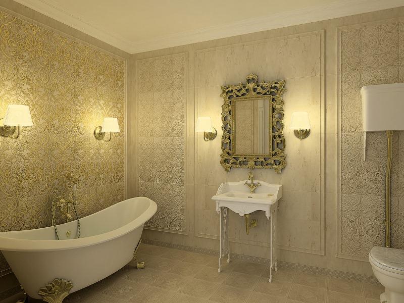 Настенный светильник для ванной комнаты