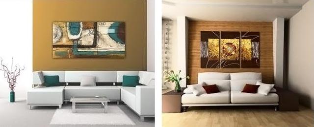 абстрактные картины в интерьере 040-1