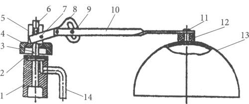 Рисунок Устройство вертикального поплавкового клапана бачка унитаза