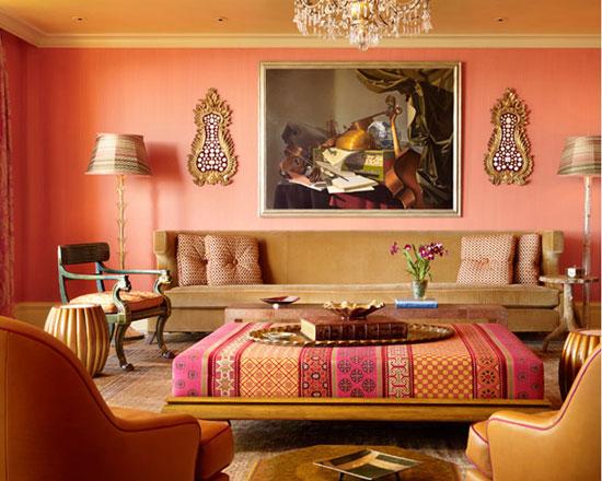 Персиковый цвет в марокканском интерьере фото