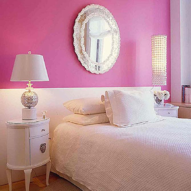бело-розовый интерьер 40