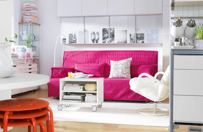 бело-розовый интерьер 50