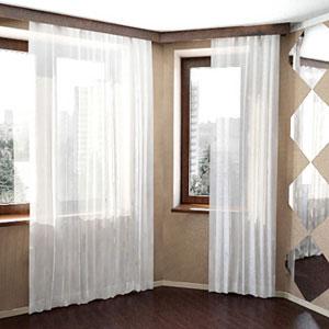 белые шторы 38