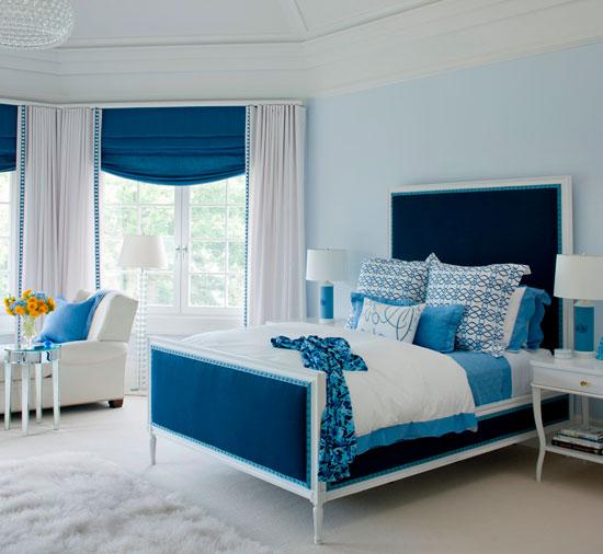 Оттенки голубого в домашних интерьерах