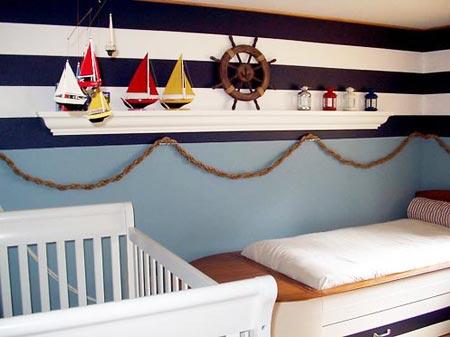 детская комната в морском стиле 02