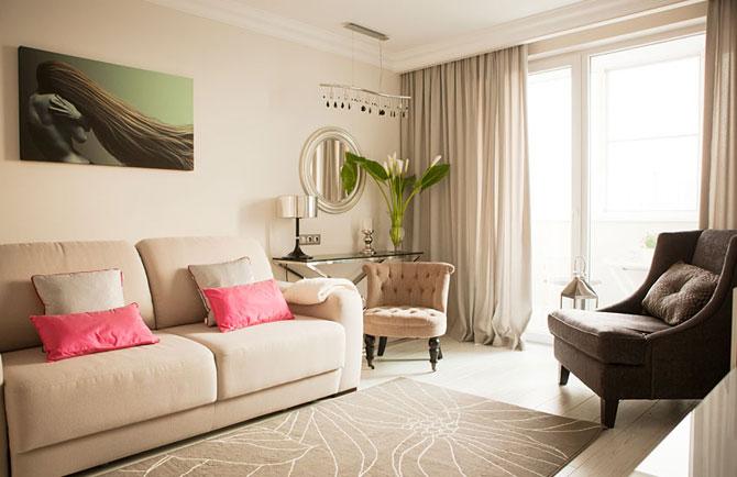 дизайн однокомнатной квартиры для молодой пары 001