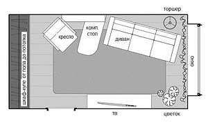 дизайн однокомнатной квартиры холостяка фото5