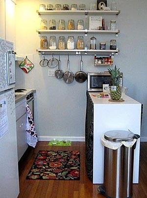 дизайн интерьер маленькой кухни 27