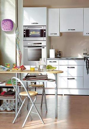 дизайн интерьер маленькой кухни 32