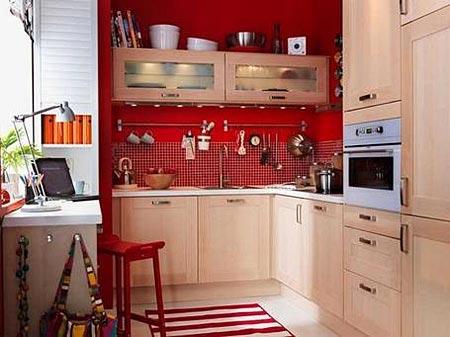 дизайн интерьер маленькой кухни 36