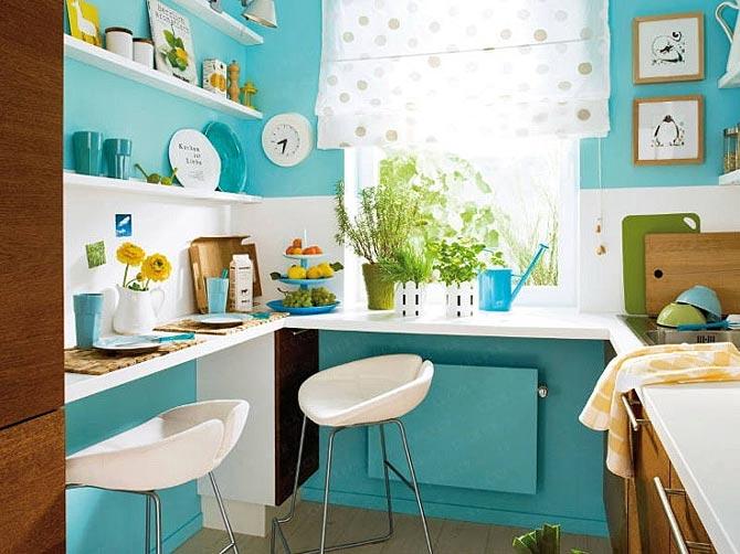 дизайн интерьер маленькой кухни 38