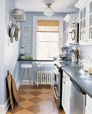 дизайн интерьер маленькой кухни 40