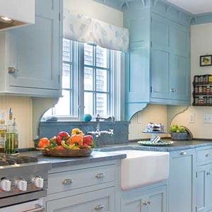 дизайн интерьер маленькой кухни 44