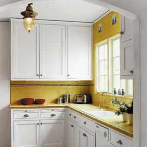 дизайн интерьер маленькой кухни 46
