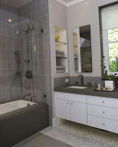Дизайн мебели для ванной комнаты маленького размера