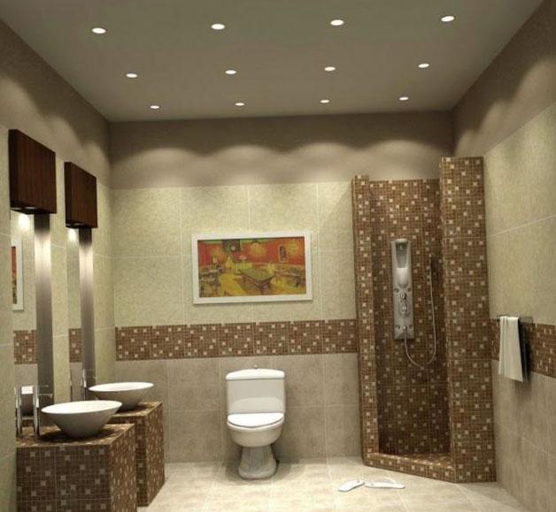 Приёмы для визуального увеличения площади туалета 2
