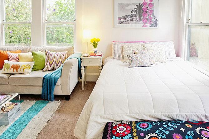 гостиная и спальня в одной комнате 19