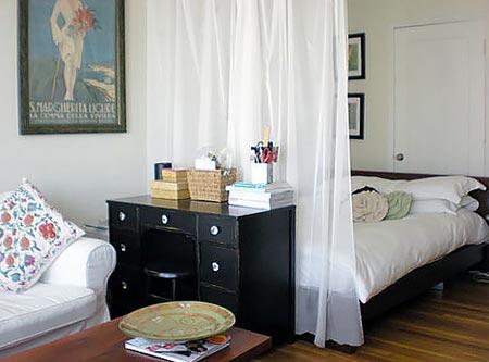 гостиная и спальня в одной комнате 36