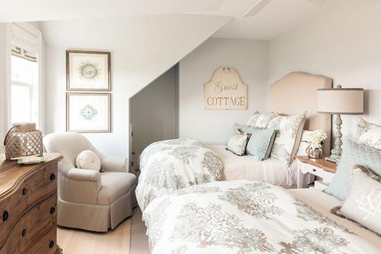Двойная спальня в мансарде