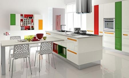 кухня белая и яркая 06