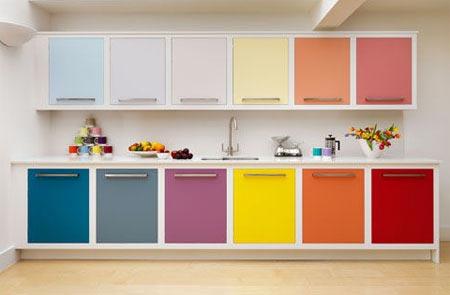 кухня белая и яркая 12