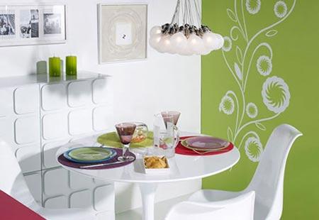 кухня белая и яркая 34