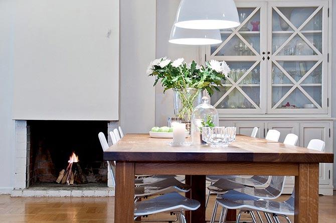 люстры и светильники в кухню-гостиную 03