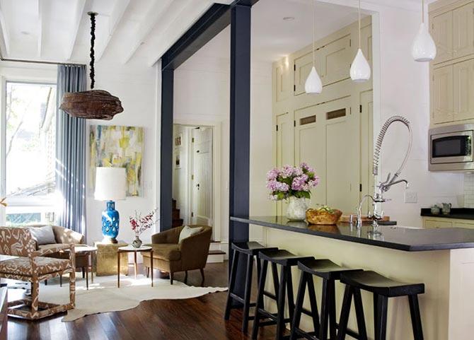 люстры и светильники в кухню-гостиную 18
