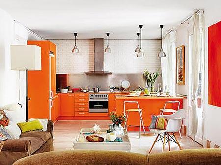 люстры и светильники в кухню-гостиную 25