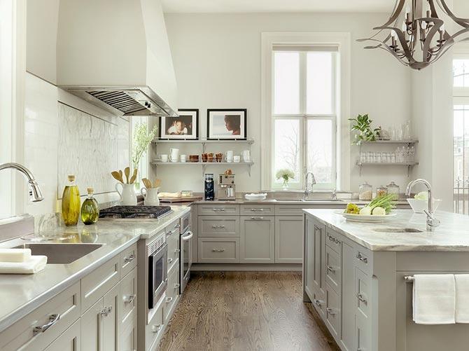 люстры и светильники в кухню-гостиную 28