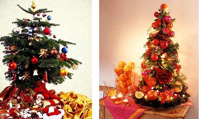 новогоднее украшение дома - маленькие елочки 008