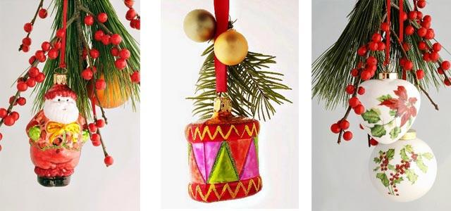 новогоднее украшение дома - букеты из сосновых веток 010