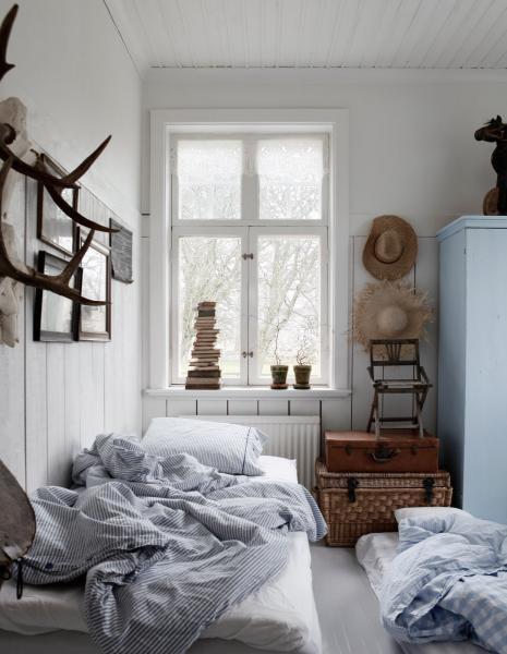 Фото обоев для спальни в стиле кантри